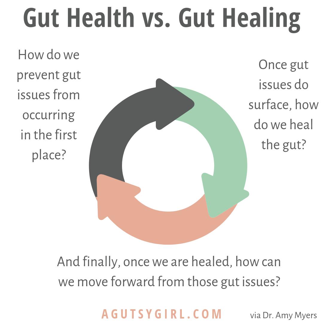 Gut Health vs Gut Healing agutsygirl.com #guthealth #guthealing #ibs IBS IG