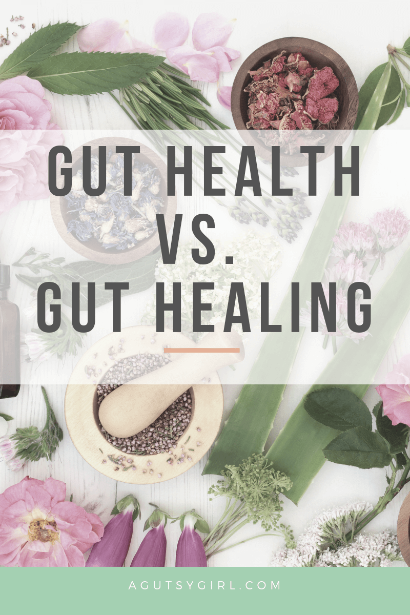Gut Health vs. Gut Healing agutsygirl.com #guthealth IBS IBD #healing #ibs