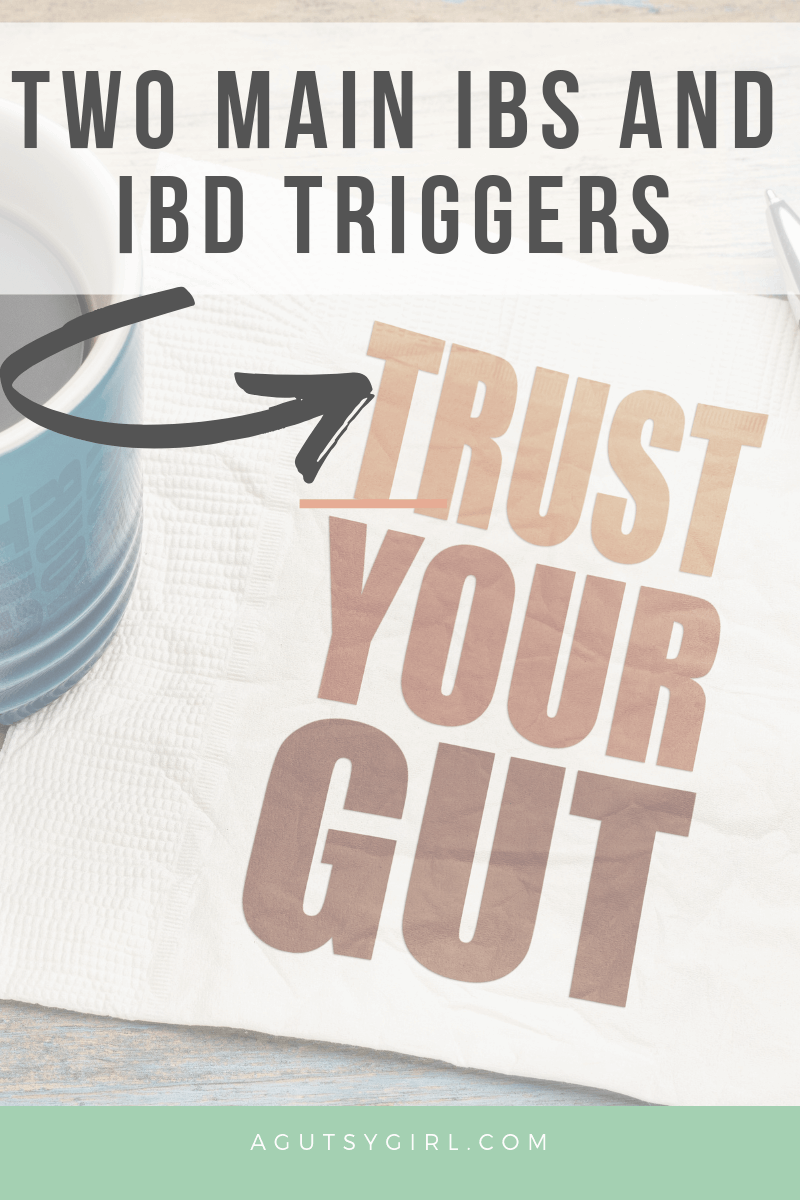 Two Main IBS and IBD Triggers agutsygirl.com #guthealth #IBS #stress #autoimmune