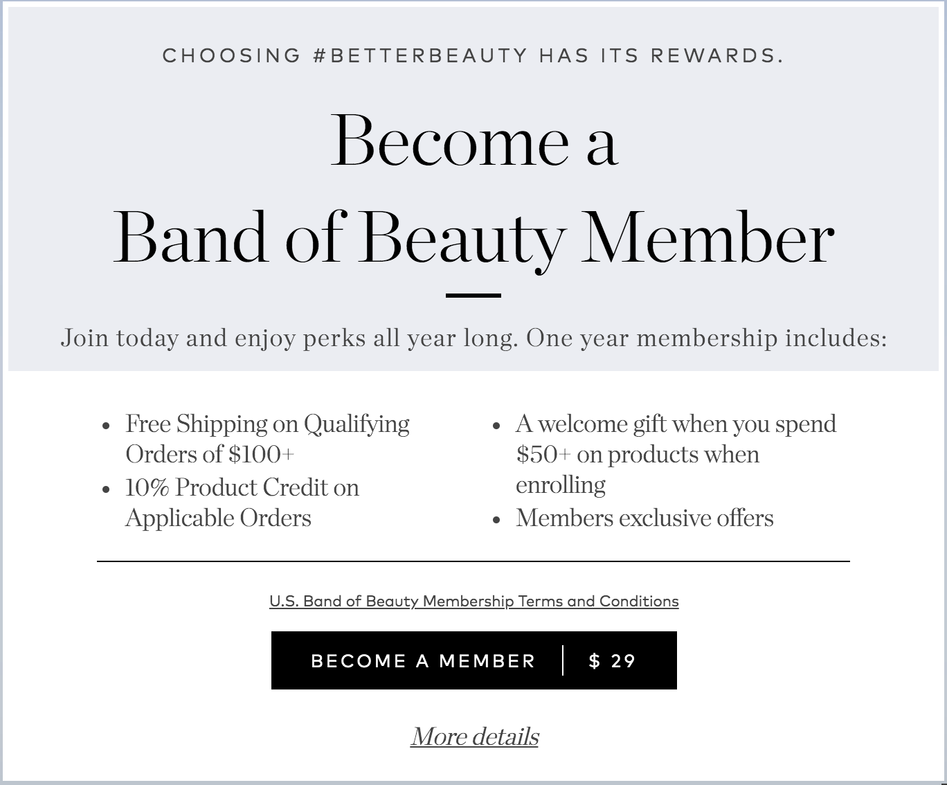 How to Get Free Shipping on Safer Skincare band of beauty membership agutsygirl.com #beautycounter #saferskincare #skincare #makeup