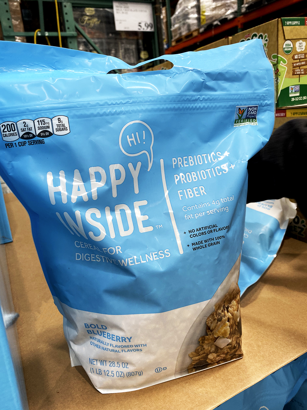 Packaged Foods for Digestive Wellness Get Happy Inside agutsygirl.com #digest #guthealth #cereal #healthyliving