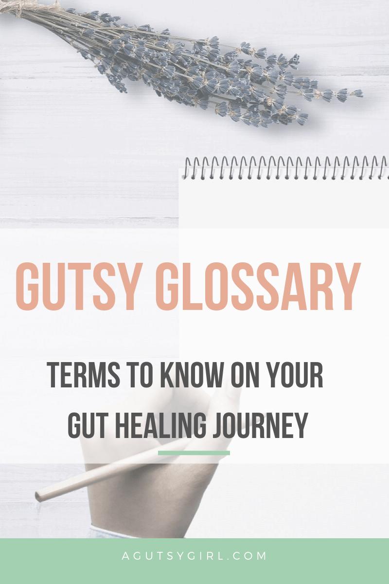 Gutsy Glossary for gut healing IBS IBD agutsygirl.com #guthealth #guthealing #IBS #IBD