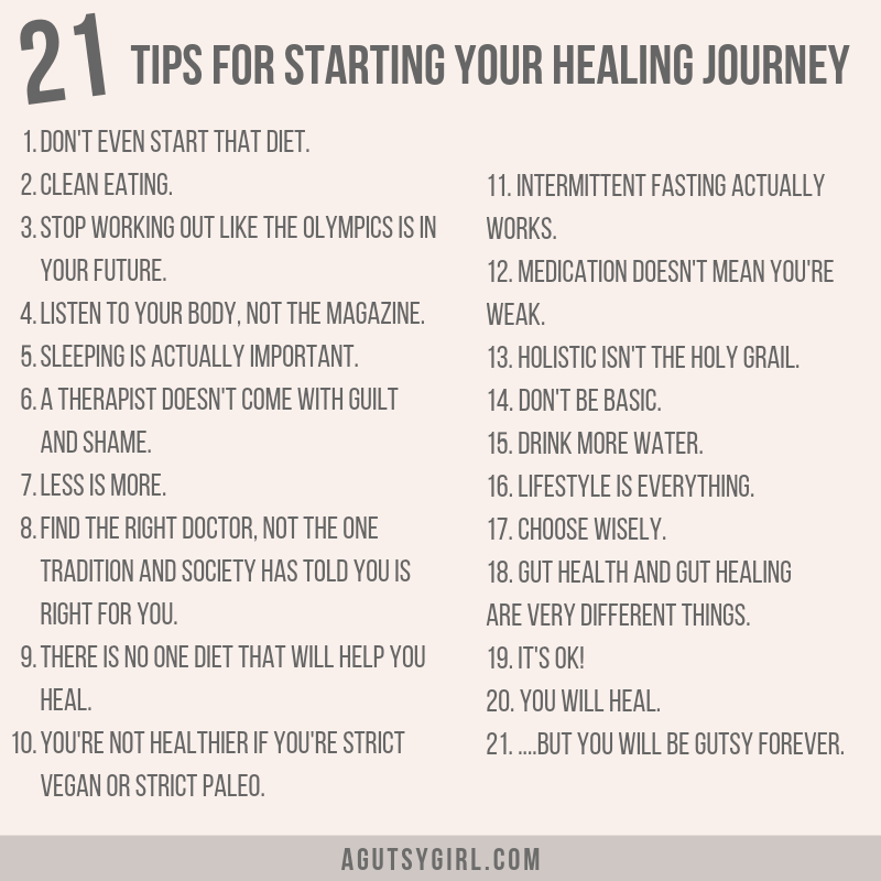 Tips for Starting Your Healing Journey agutsygirl.com IBS IBD #ibs #guthealth #sibo