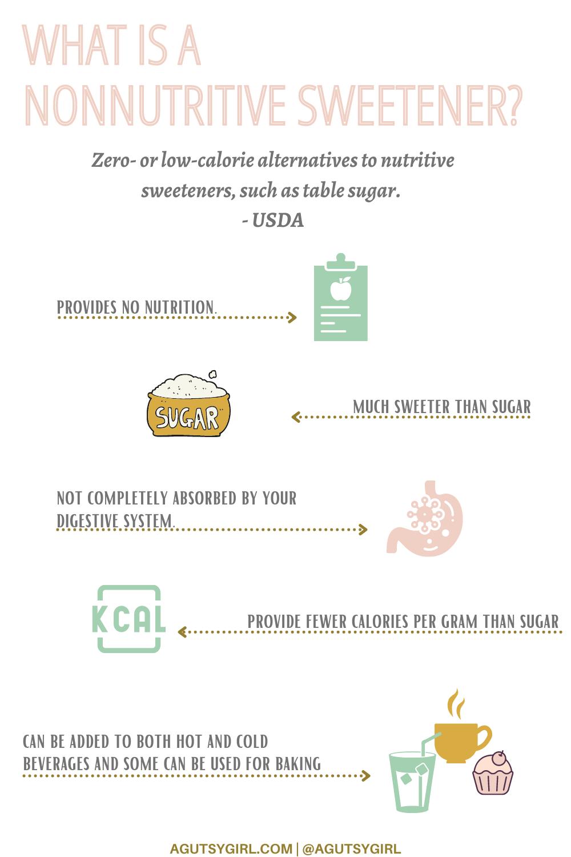 What is a Nonnutritive Sweetener? agutsygirl.com #nocaloriesugar #nosugar #sweeteners