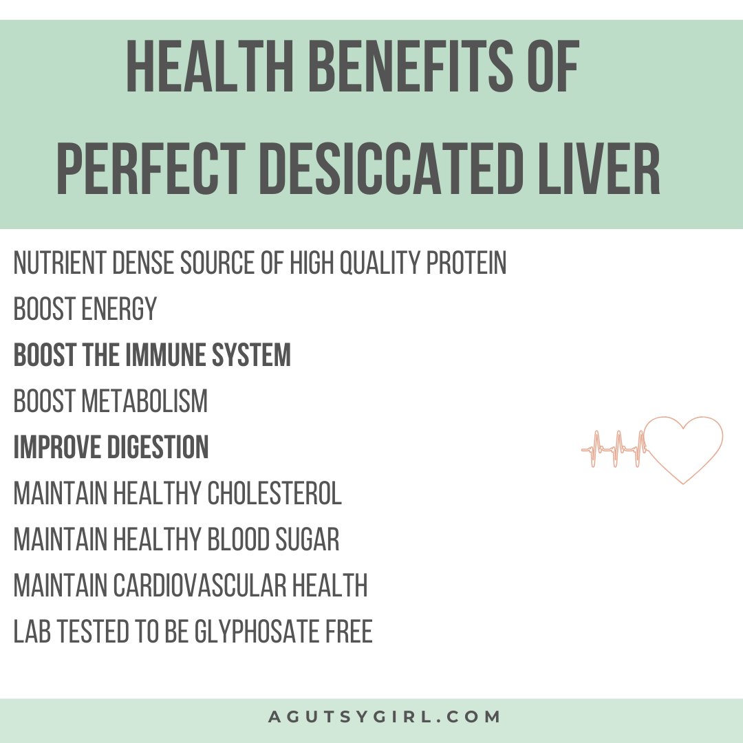 Desiccated Liver agutsygirl.com #nutrition #liver #guthealth #nutrientdense Perfect Supplements health benefits sibo