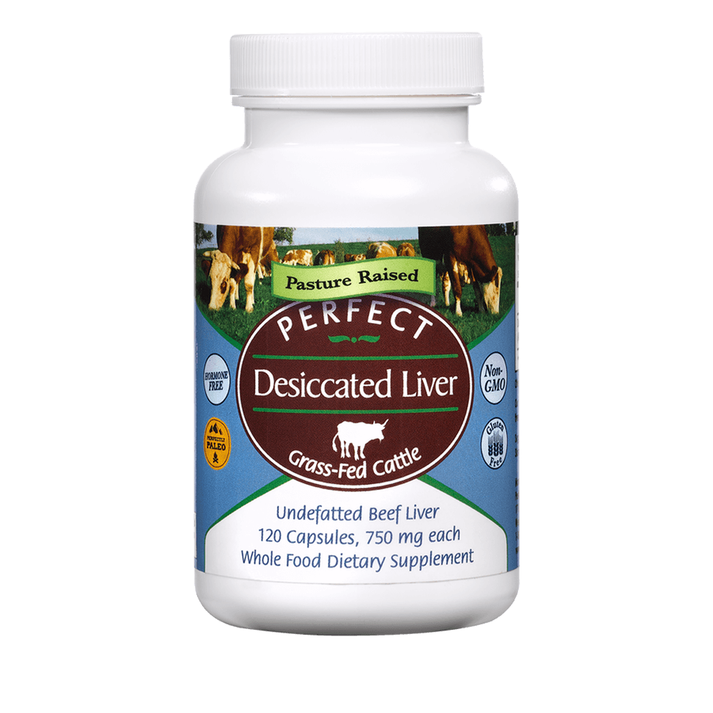 Desiccated Liver agutsygirl.com #nutrition #liver #guthealth #nutrientdense Perfect Supplements pills capsules