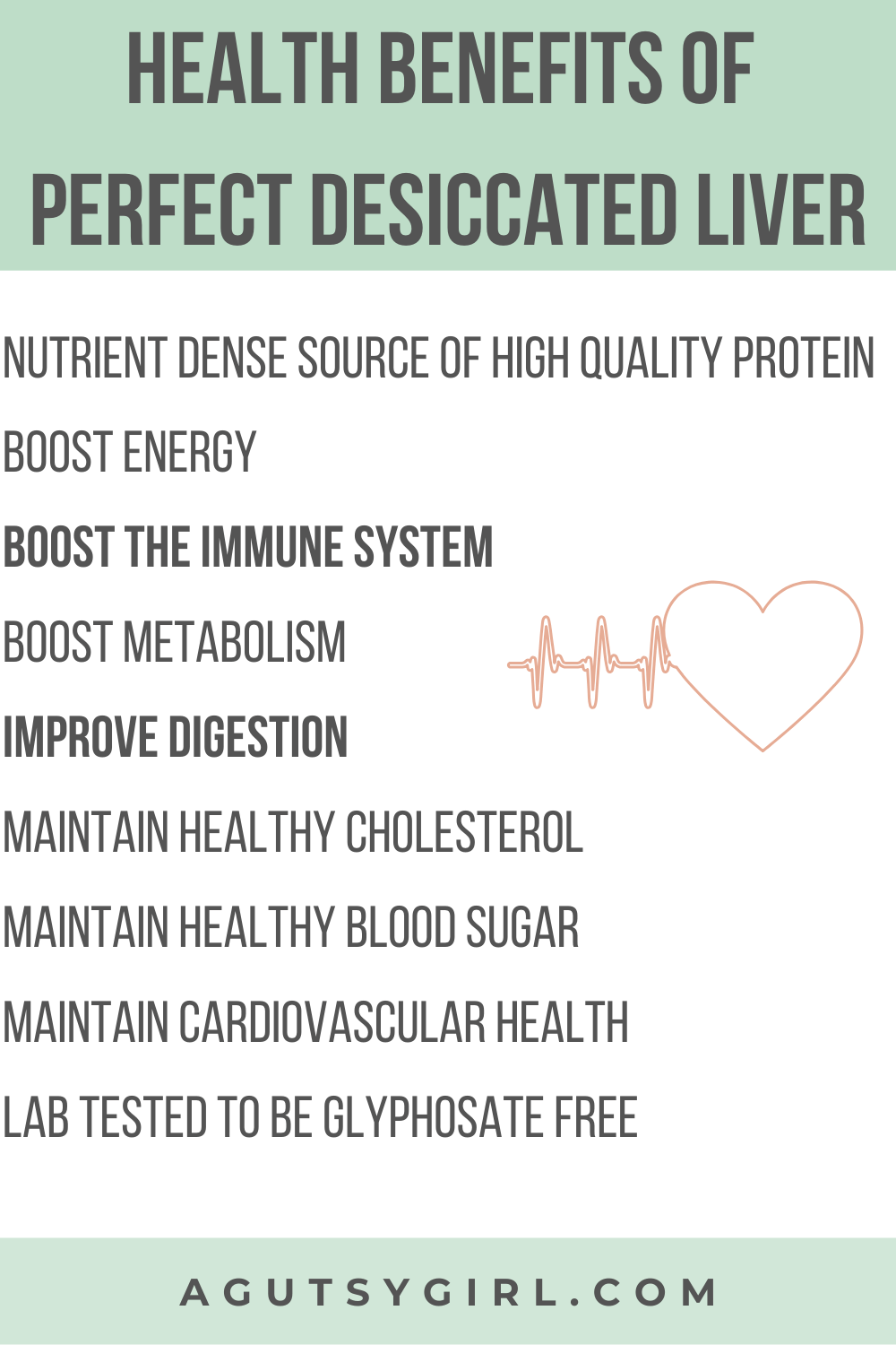 Health Benefits of Perfect Desiccated Liver agutsygirl.com #perfectsupplements #liver #guthealth