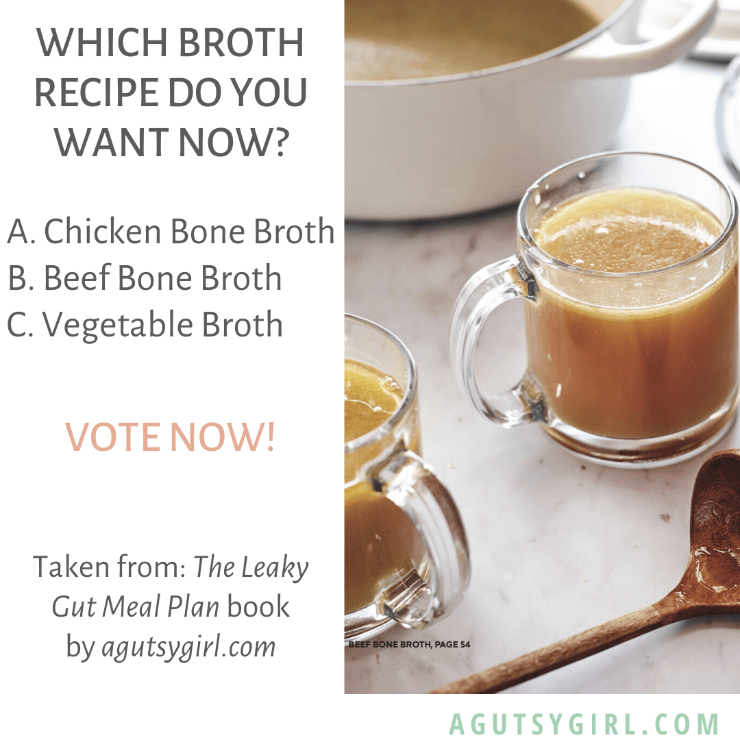 Instant Pot Vegetable Broth agutsygirl.com The Leaky Gut Meal Plan #broth #veganrecipes #instagram