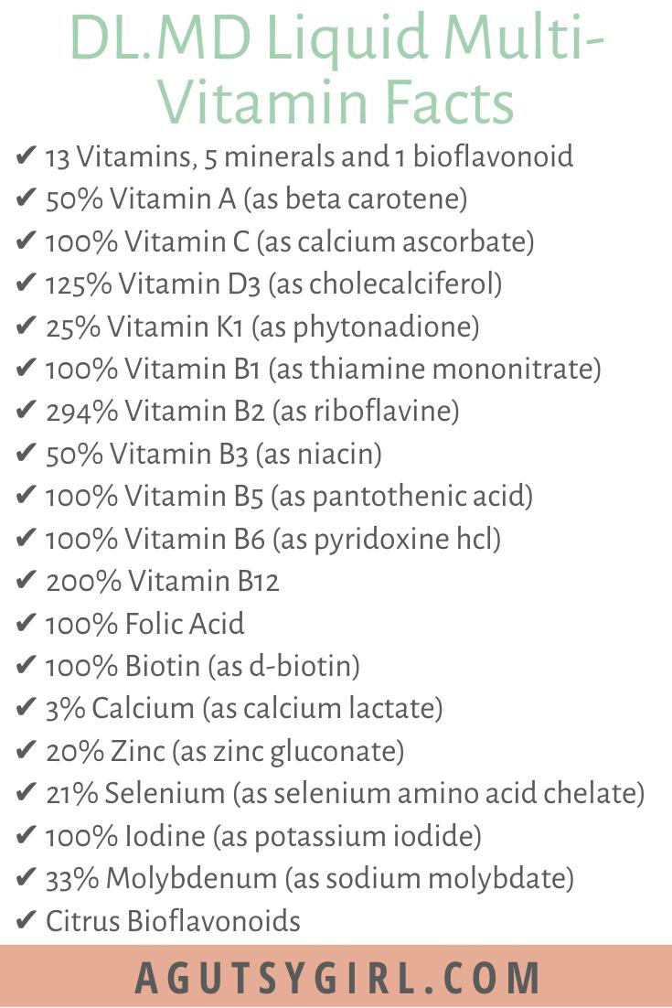 DL.MD Liquid Multivitamin Facts agutsygirl.com multi-vitamin supplement #multivitamin #healthyliving #vitamins #supplements