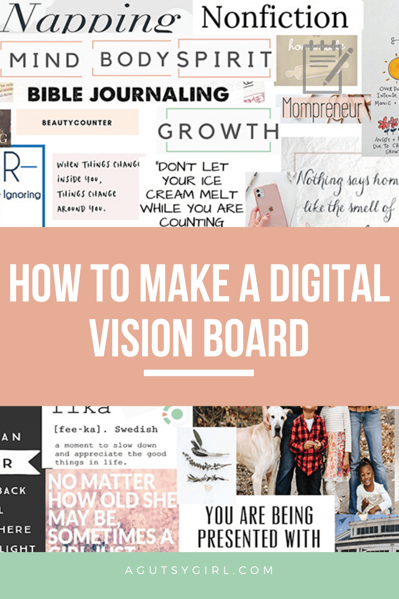 Digital Vision Board 2020 How to create a digital vision board agutsygirl.com #newyearsgoals #visionboard how to