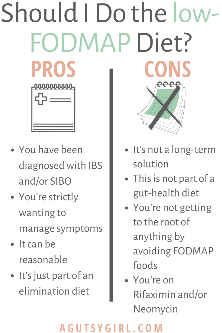 Should I Do the Low-FODMAP Diet agutsygirl.com #lowFODMAP #fodmap #fodmaps #guthealth IBS