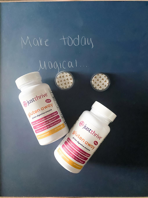 Just Thrive Gluten Away product agutsygirl.com #gluten #celiac #glutenfree #leakygut