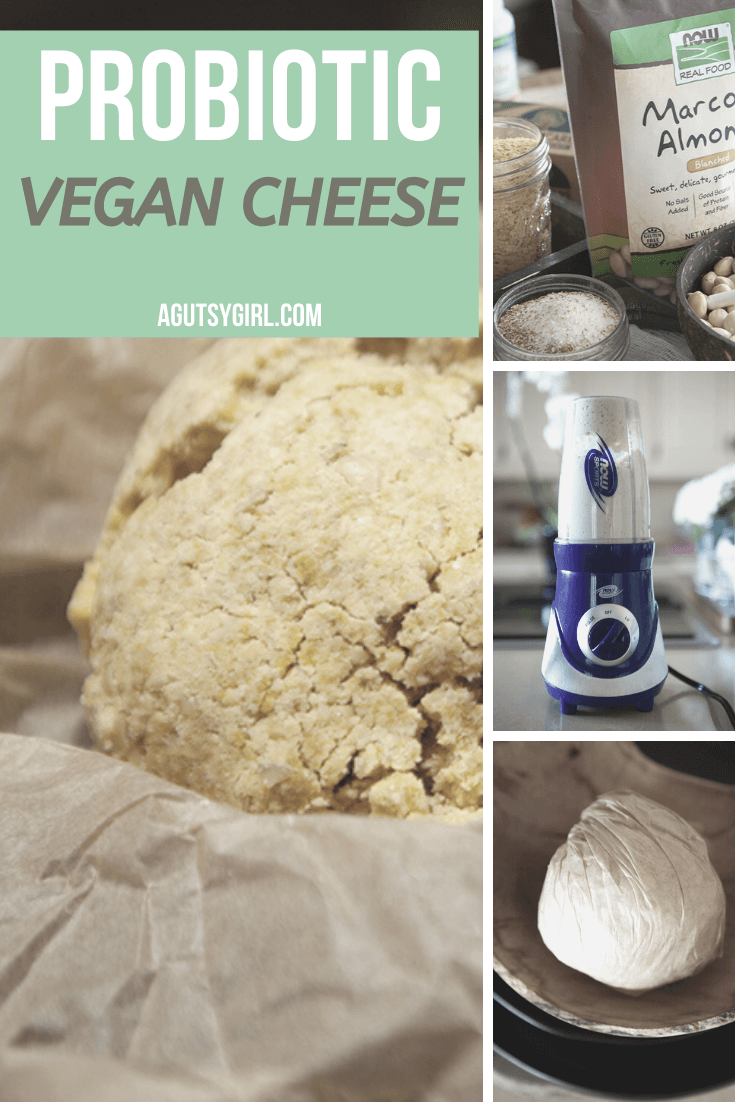 Probiotic Vegan Cheese agutsygirl.com #probiotic #guthealth #vegancheese #veganrecipes 5-ingredients