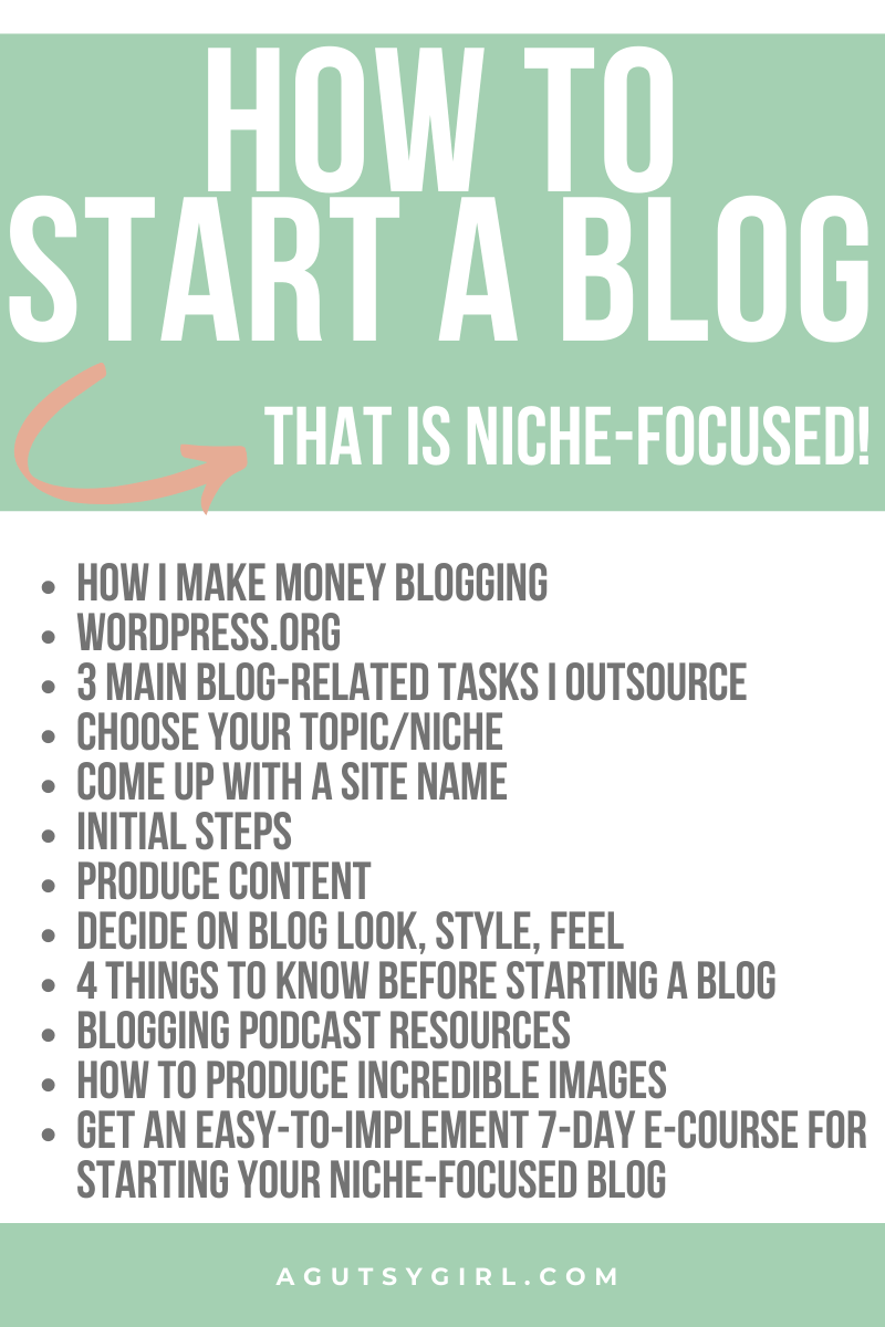 Starting a Niche Focused Blog how to agutsygirl.com #blog #mompreneur #onlinemarketing #entrepreneur