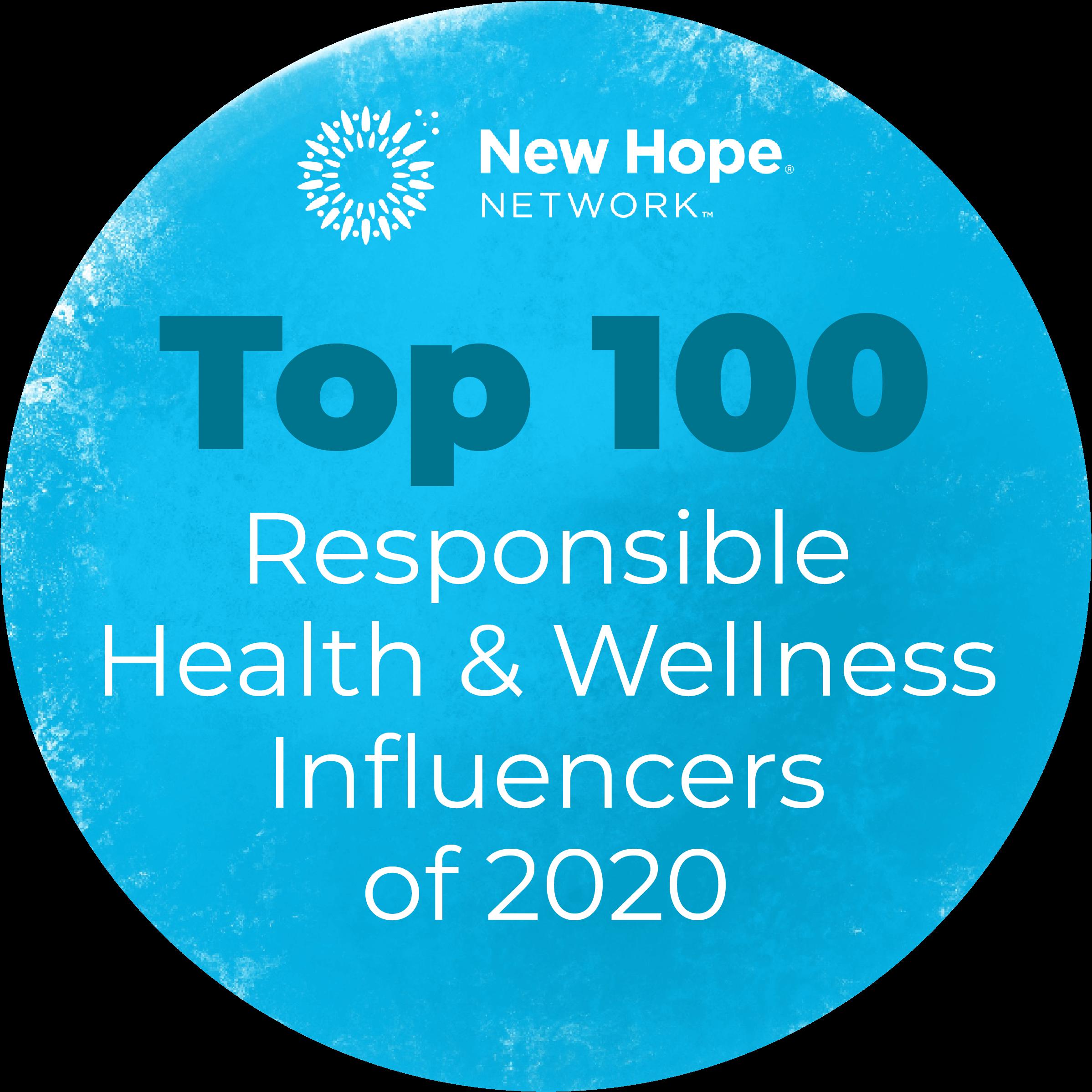 Top 100 Responsible Health & Wellness Influencers of 2020 agutsygirl.com A Gutsy Girl gut health healing