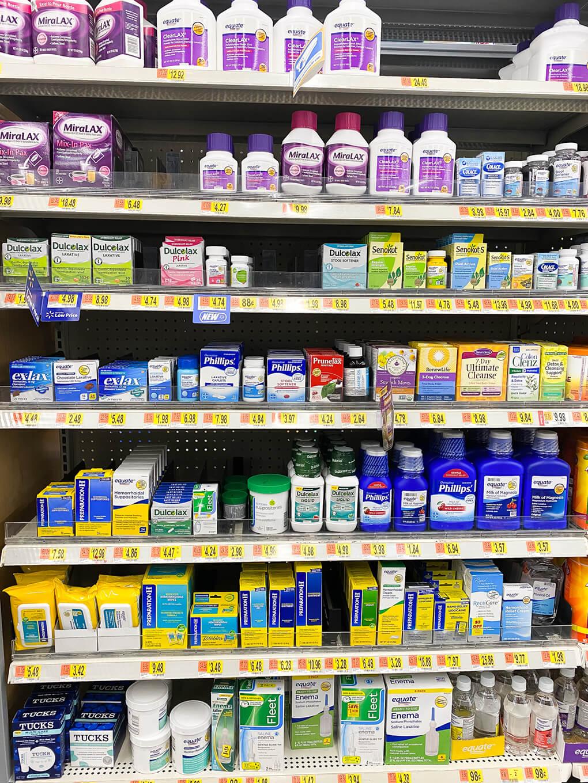 Walmart Edition Gutsy Finds agutsygirl.com #digestivehealth #walmart #walmartfinds digestive aisle
