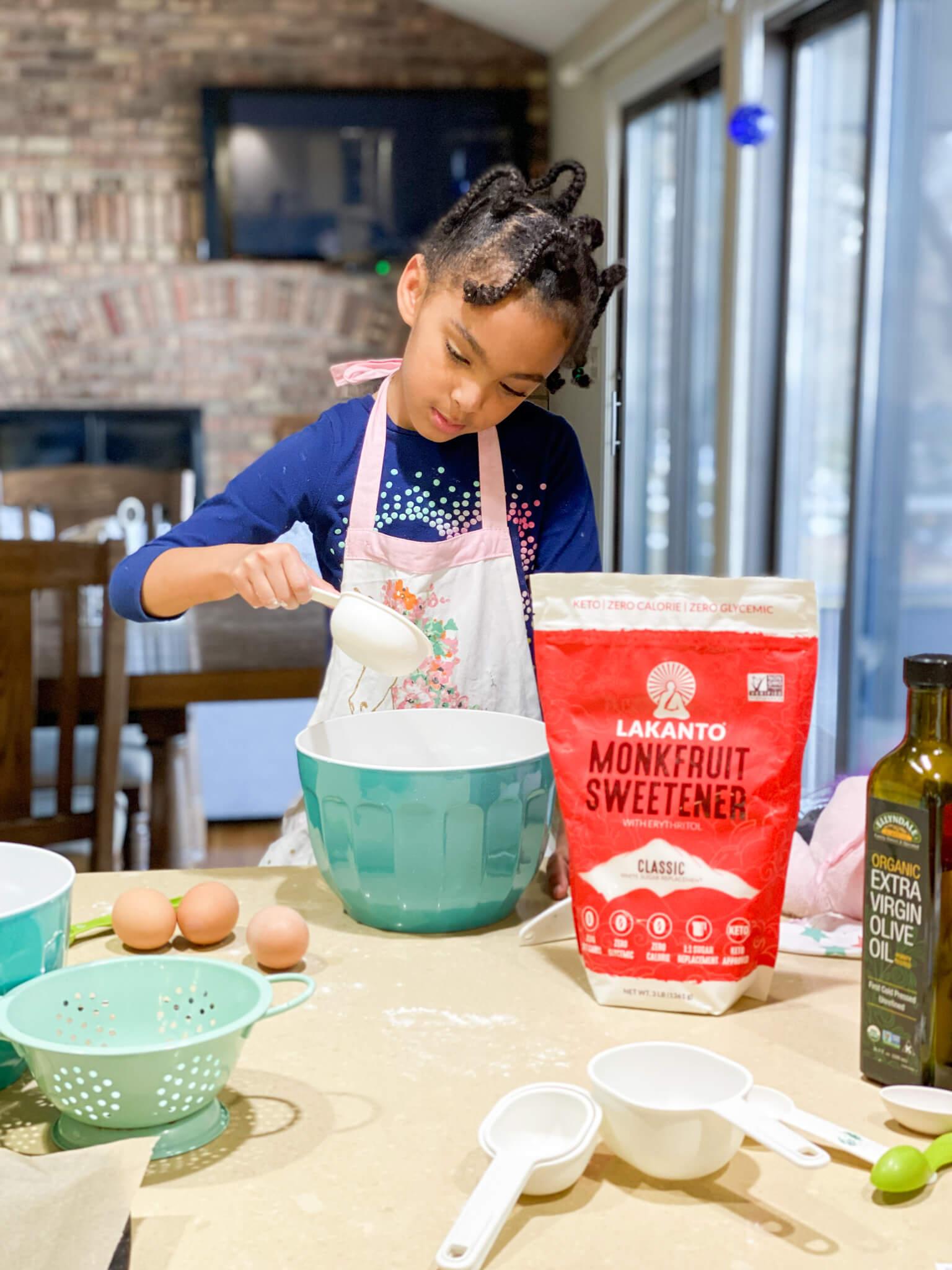 Gluten and Dairy-Free Almond Poppy Seed Sheet Cake Recipe agutsygirl.com #glutenfreerecipe #dairyfreerecipe #glutenfreedairyfree #poppyseed Lakanto Monk Fruit