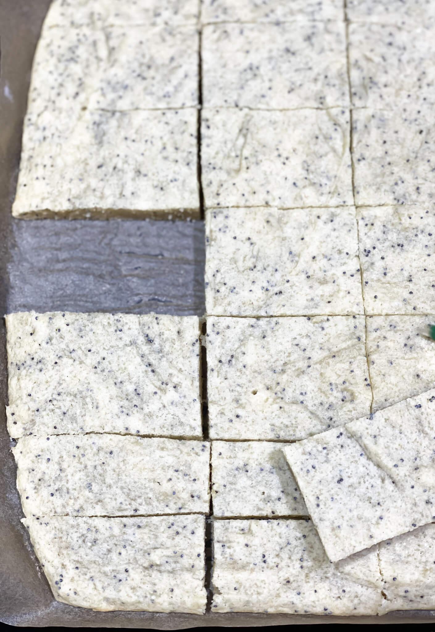 Gluten and Dairy-Free Almond Poppy Seed Sheet Cake Recipe agutsygirl.com #glutenfreerecipe #dairyfreerecipe #glutenfreedairyfree #poppyseed done