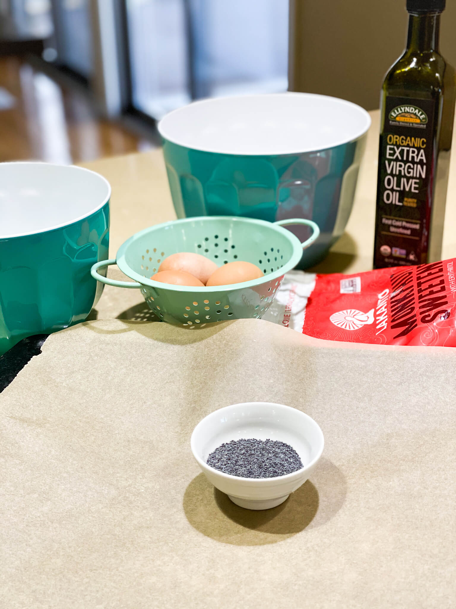 Gluten and Dairy-Free Almond Poppy Seed Sheet Cake Recipe agutsygirl.com #glutenfreerecipe #dairyfreerecipe #glutenfreedairyfree #poppyseed ingredients