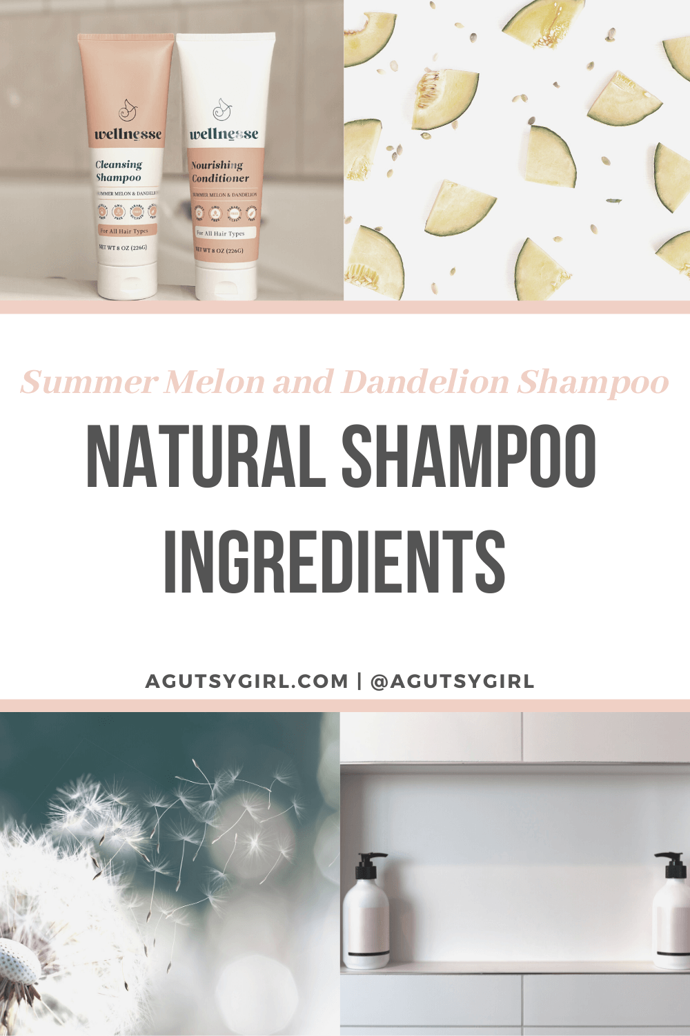 Natural Shampoo Ingredients agutsygirl.com #naturalproducts #shampoo #healthyliving #nontoxic Wellnesse personal care