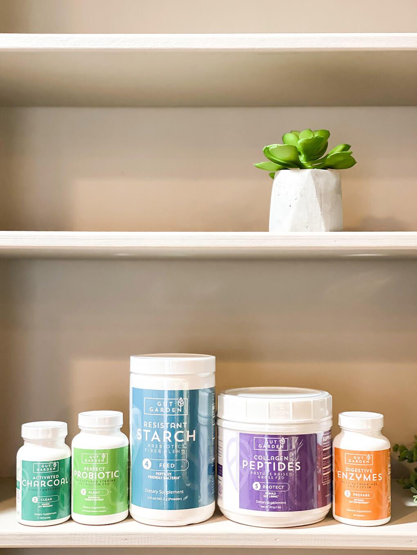 Gut Garden GoodGut Program agutsygirl.com #guthealing #guthealth #supplements 5-steps supplement
