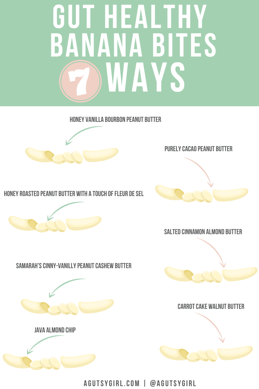How to make banana sandwiches agutsygirl.com nut butter gluten free agutsygirl.com #nutbutter #banana #guthealth