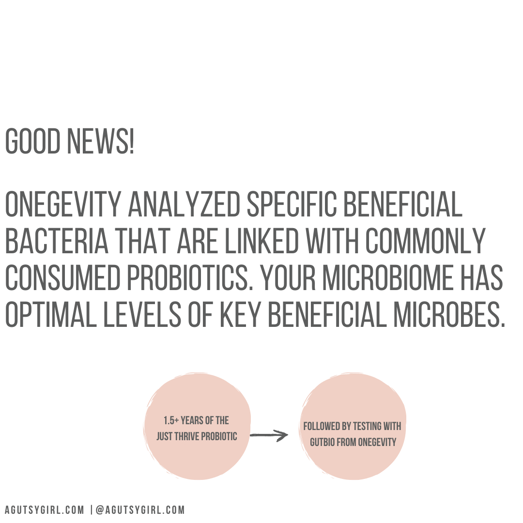 Peek Into My Personal Onegevity Microbiome Report and Review agutsygirl.com Gutbio #guthealth #productreview #immunesystem Probiotic