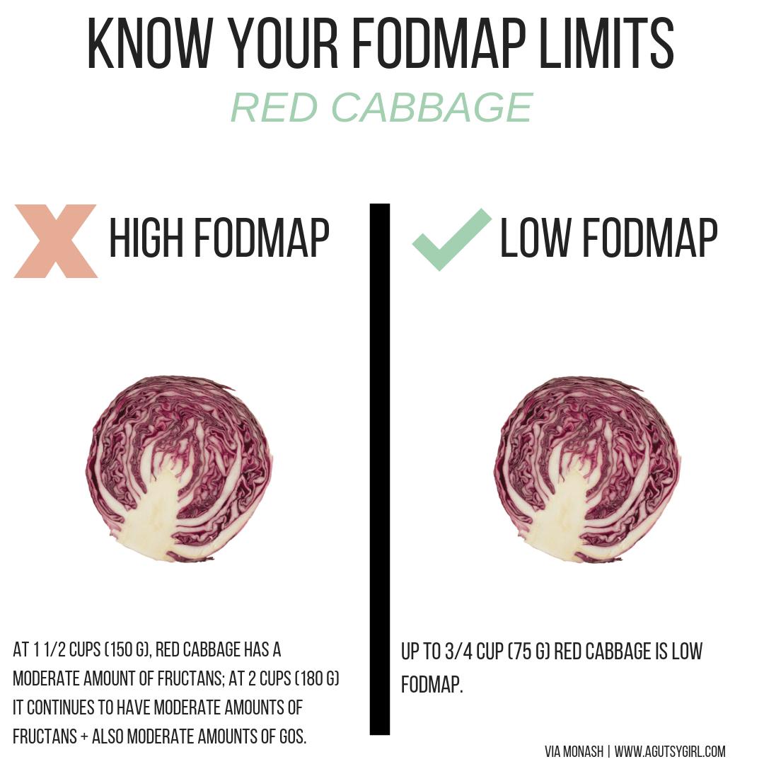red cabbage Reasonable SIBO Low-FODMAP Colorful Vegan Stir Fry Recipe agutsygirl.com #lowfodmap #healthyeating #sibo #glutenfreerecipes