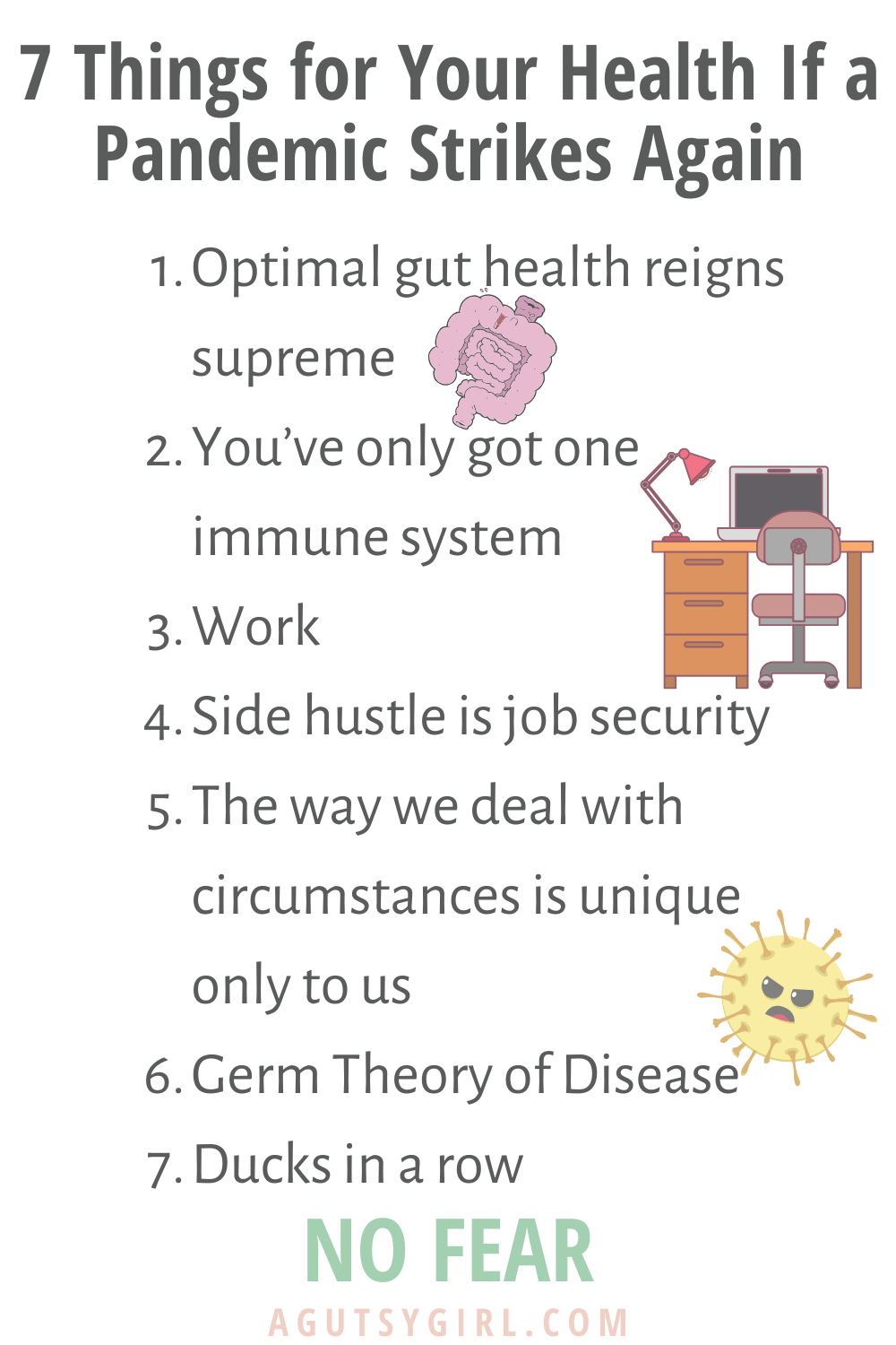 If a Pandemic Strikes Again 7 things for your health agutsygirl.com #healthyliving #immunesystem #guthealth