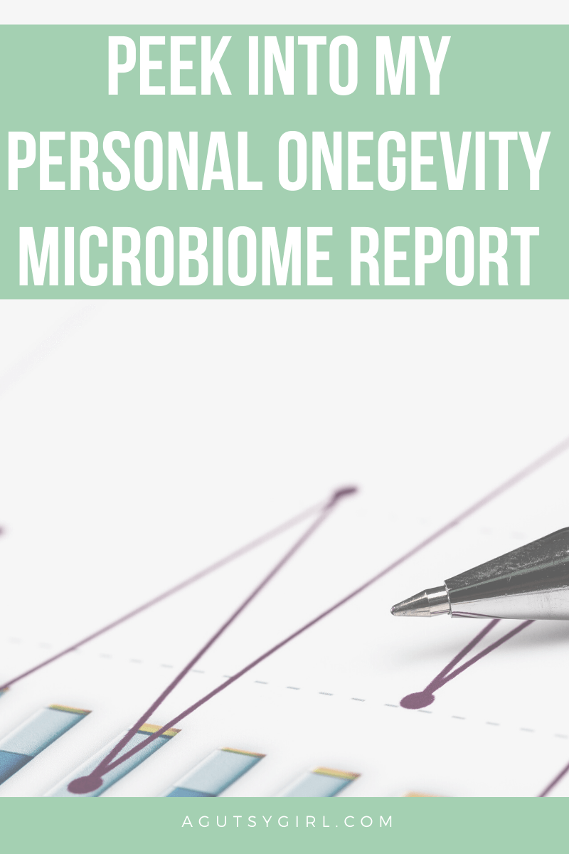 Peek Into My Personal Onegevity Microbiome Report agutsygirl.com #guthealth #microbiome #healthtesting