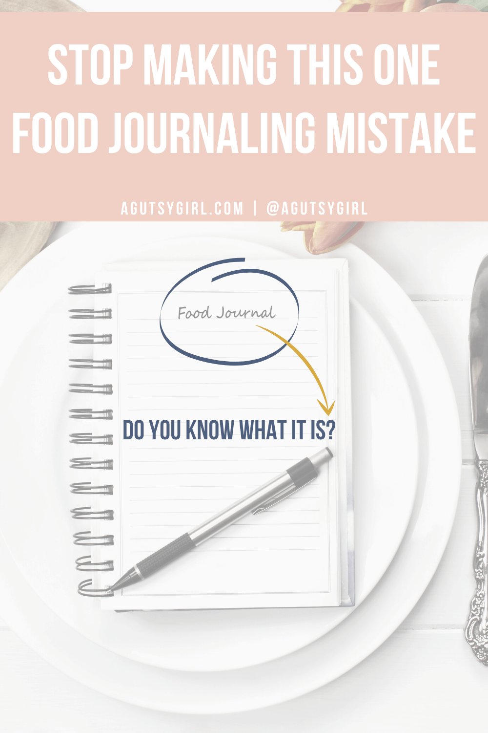 Stop Making This One Food Journaling Mistake agutsygirl.com #guthealth #foodjournal #eliminationdiet
