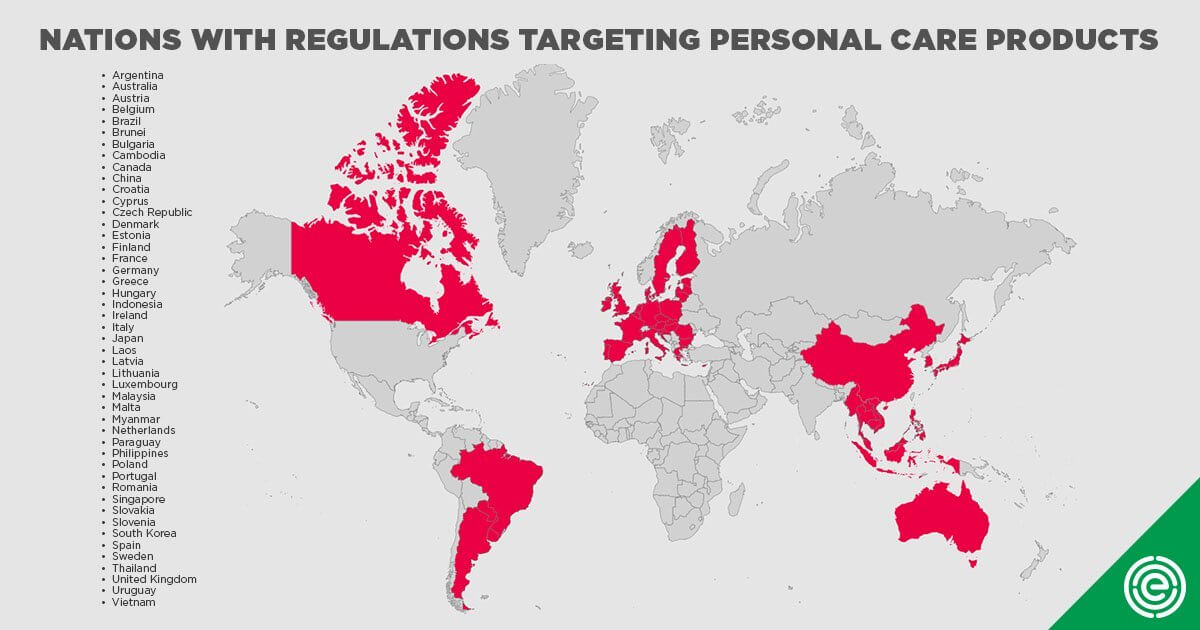 Nations with regulations targeting personal care products Toxic Makeup and Perioral Dermatitis agutsygirl.com #ewg #skincare #guthealth #makeup #toxicmakeup