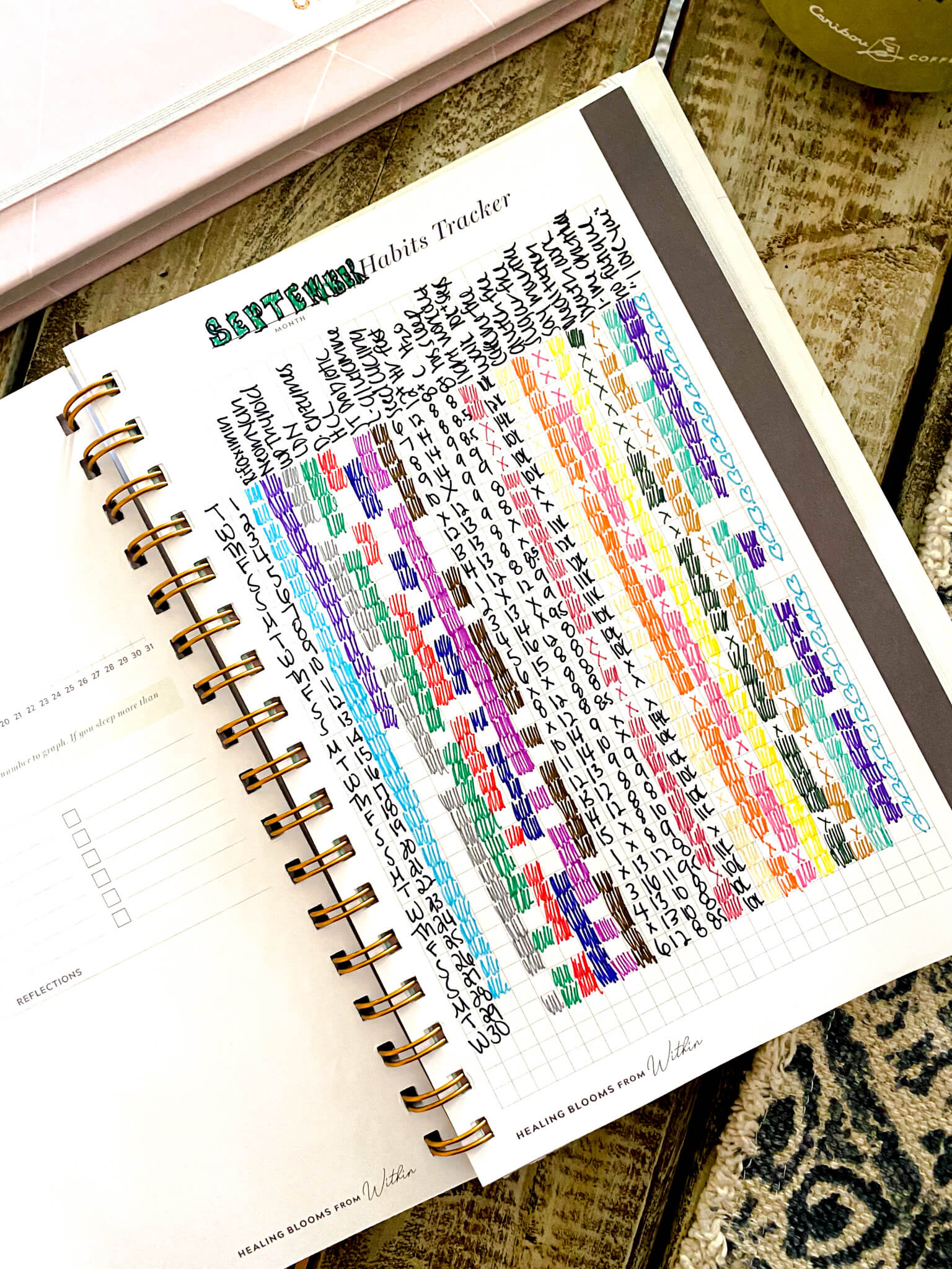 34 gut health and healing habits to track in your bullet journal agutsygirl.com #guthealing #foodjournal #eliminationdiet #healthlog #newyear