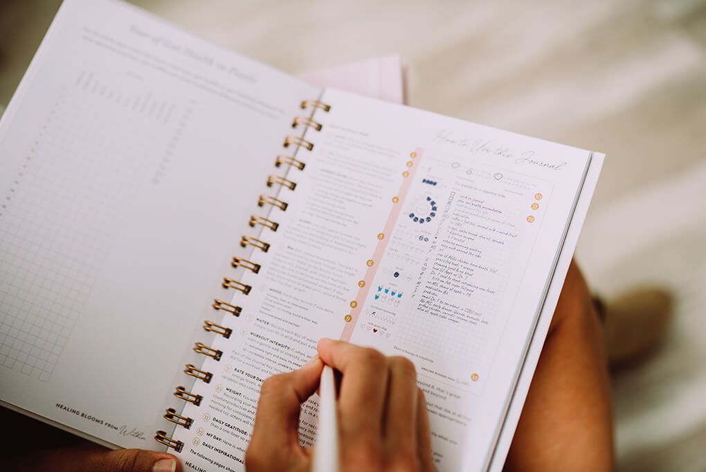 8 Steps to Creating the Best Food Journal agutsygirl.com #guthealing #foodjournal #journaling Healing Blooms from Within