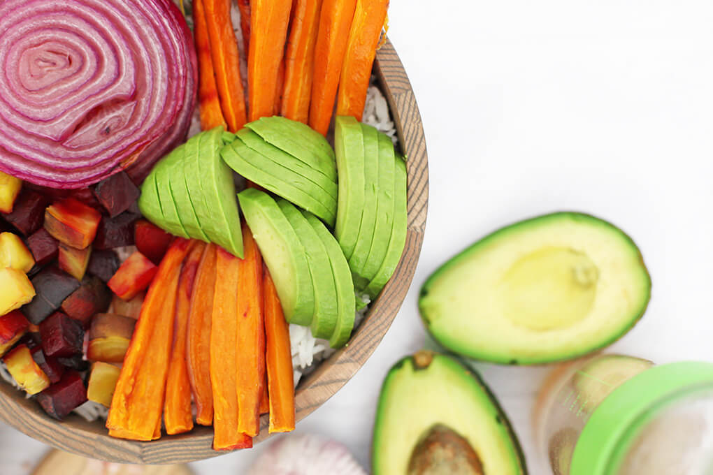 Root Vegetable Vegan Buddha Bowl agutsygirl.com #buddhabowl #buddhabowls #veganrecipes vegetarian