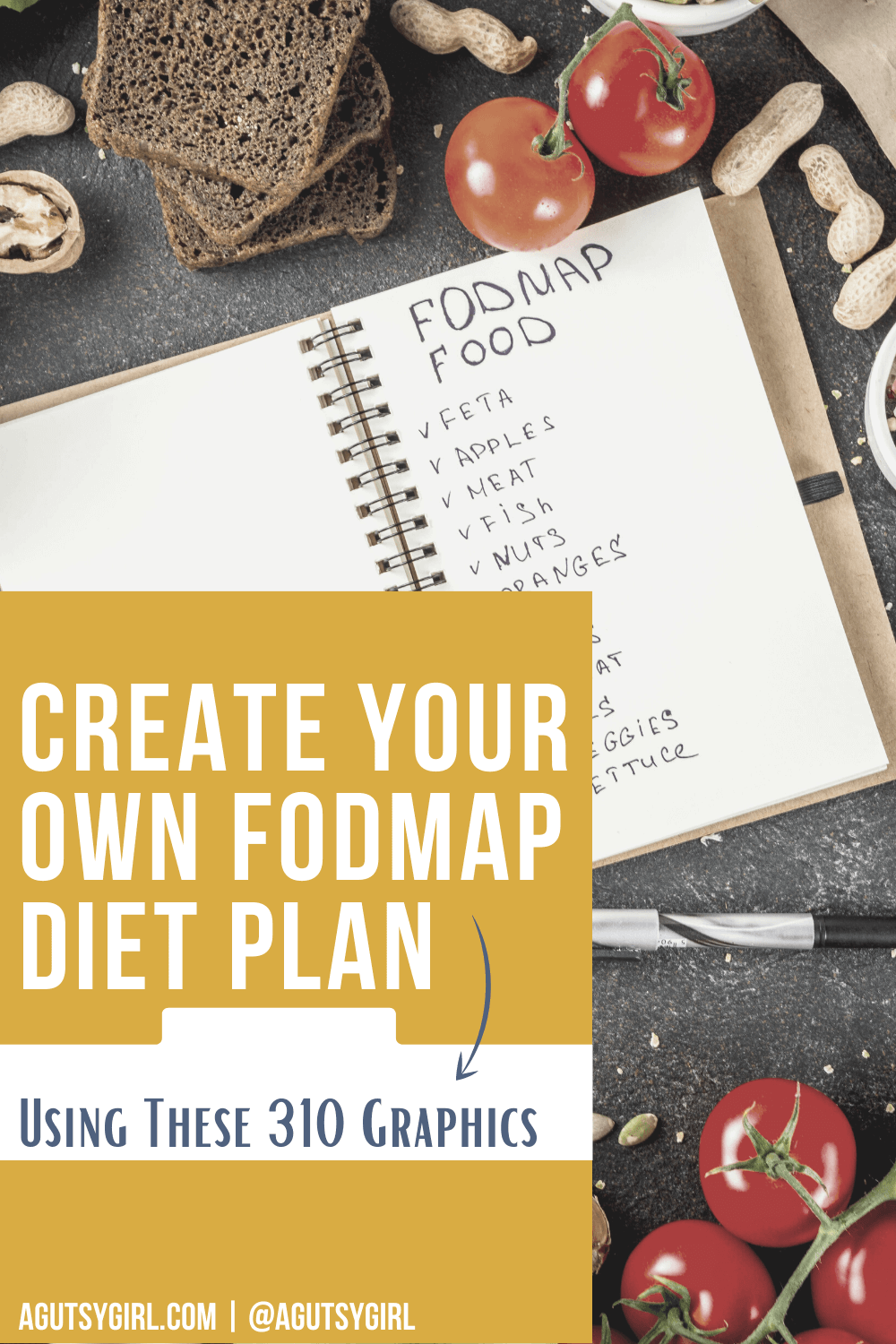 Create Your Own FODMAP Diet Plan using these 310 graphics agutsygirl.com #sibo #fodmap #lowfodmap