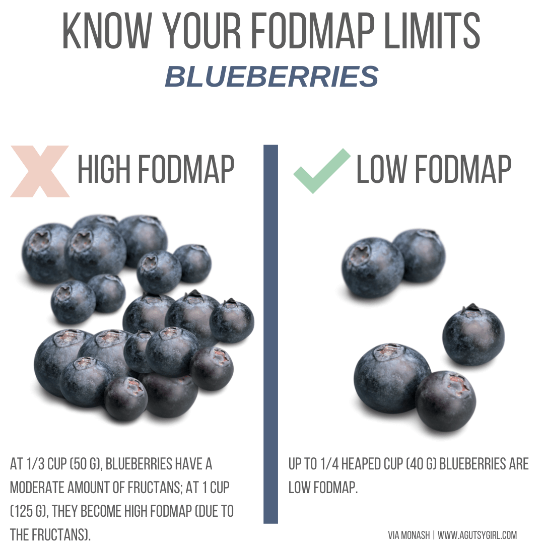 Create Your Own FODMAP Diet agutsygirl.com #fodmap #sibo #fodmapdiet Blueberries
