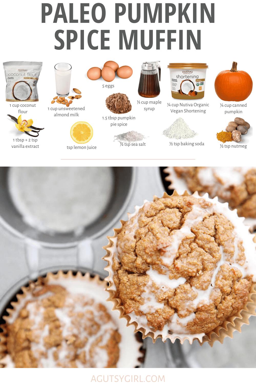 Paleo Pumpkin Spiced Muffins agutsygirl.com #paleorecipes #pumpkinspice #guthealth #dairyfreerecipes