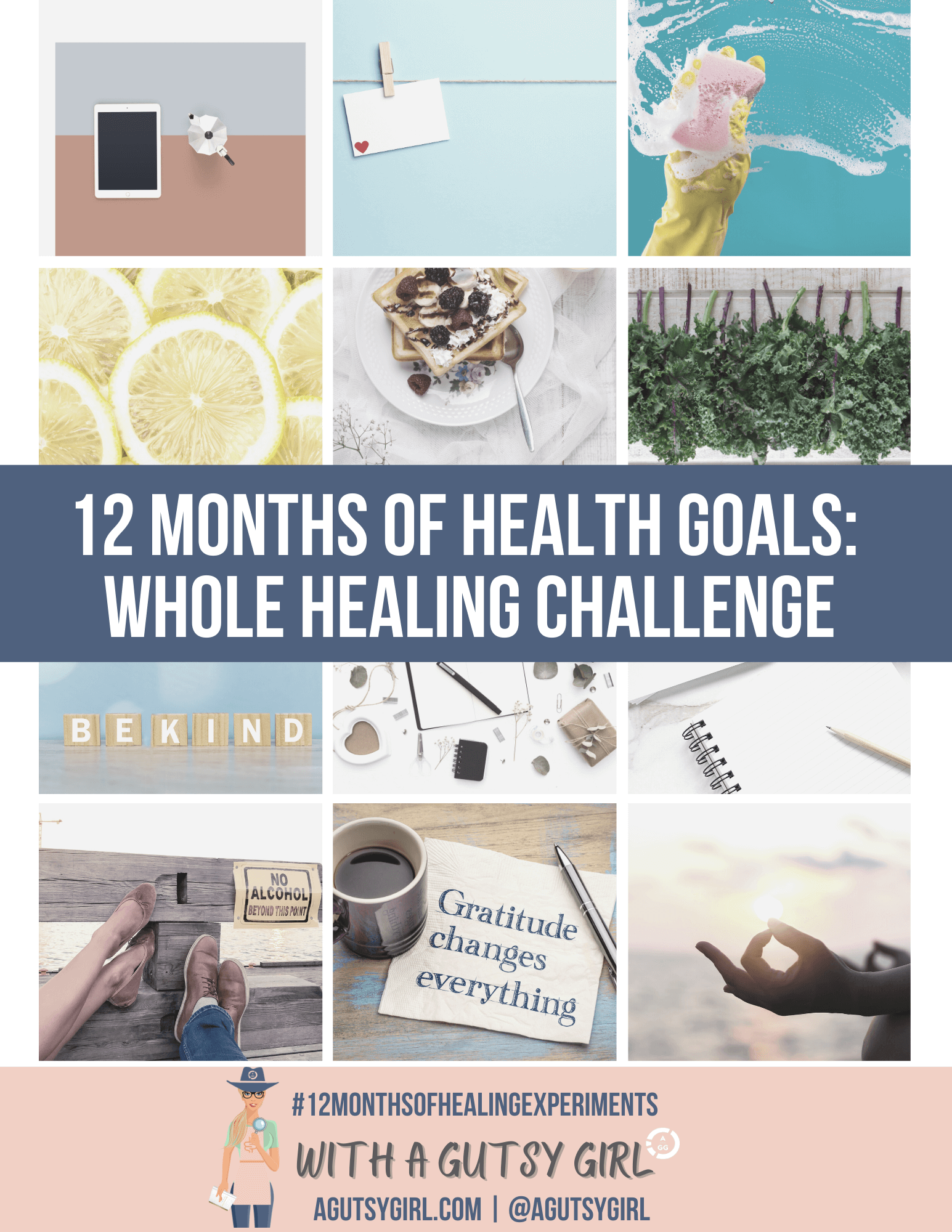 12 months of whole healing health goals with agutsygirl.com #healthgoal #newyear #healthchallenge