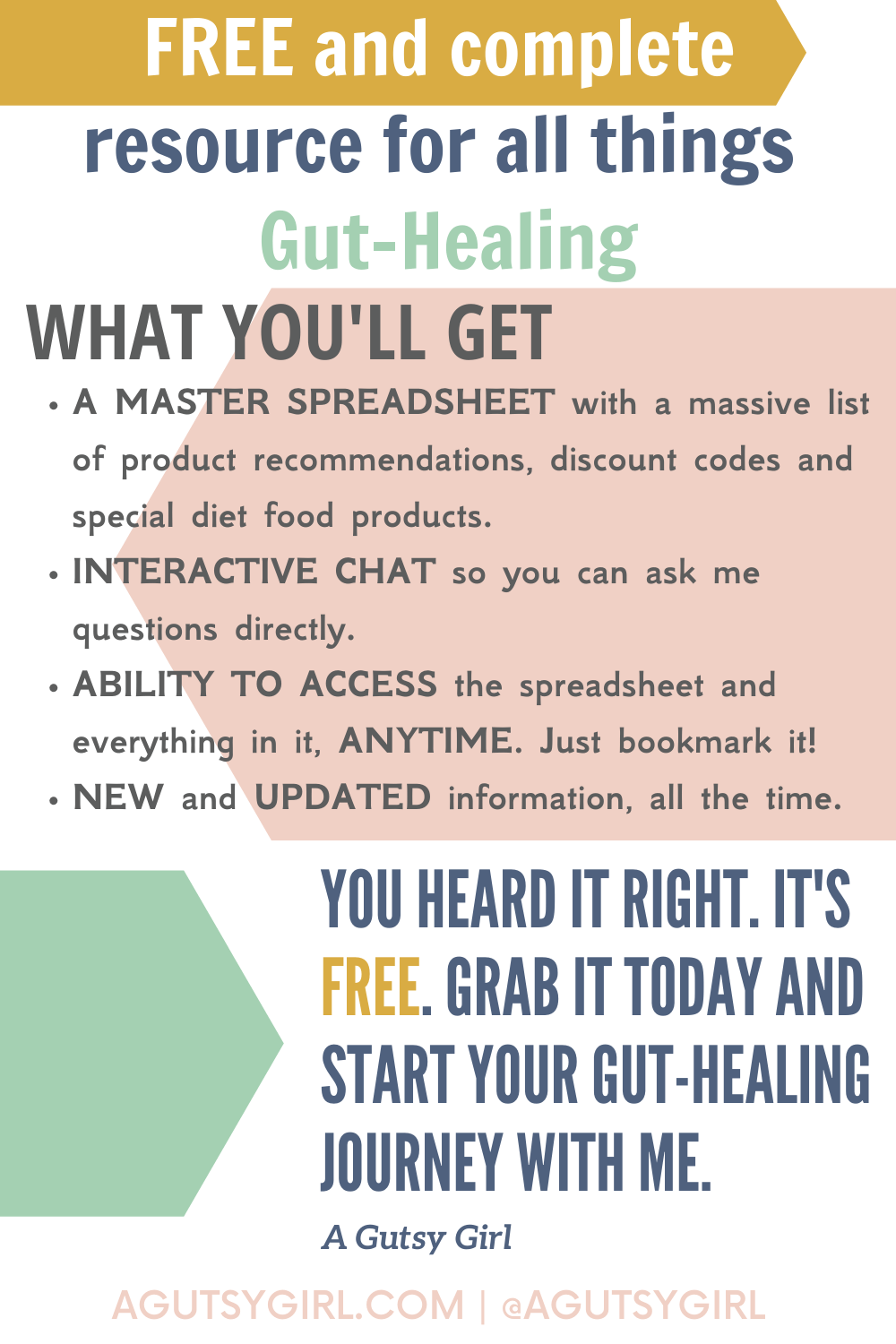 Free 21-day gut healing inspiration journey agutsygirl.com #guthealth #guthealing #irritablebowelsyndrome