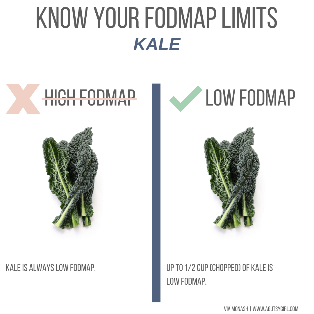 kale Top 15 Low-FODMAP High-Fiber Foods list agutsygirl.com #lowfodmap #sibo #highfiber #fodmaps