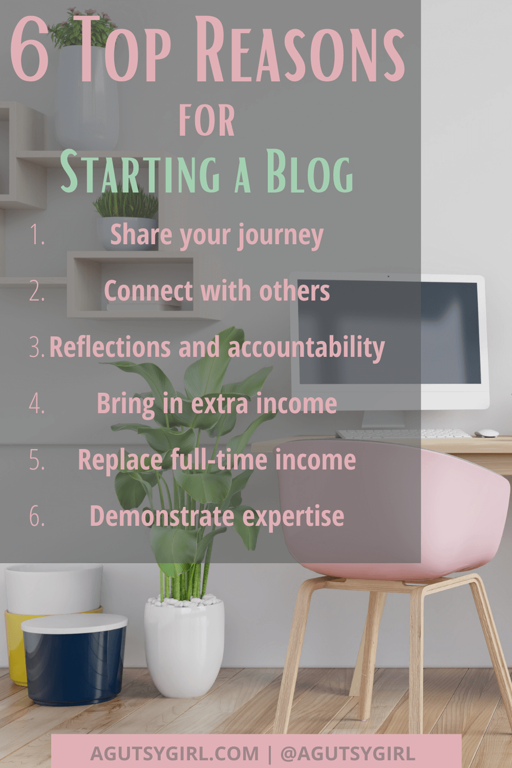 How to Start a Blog that actually makes money 6 top reasons health and wellness agutsygirl.com #blogging #howtostartablog #onlinebusiness #IIN