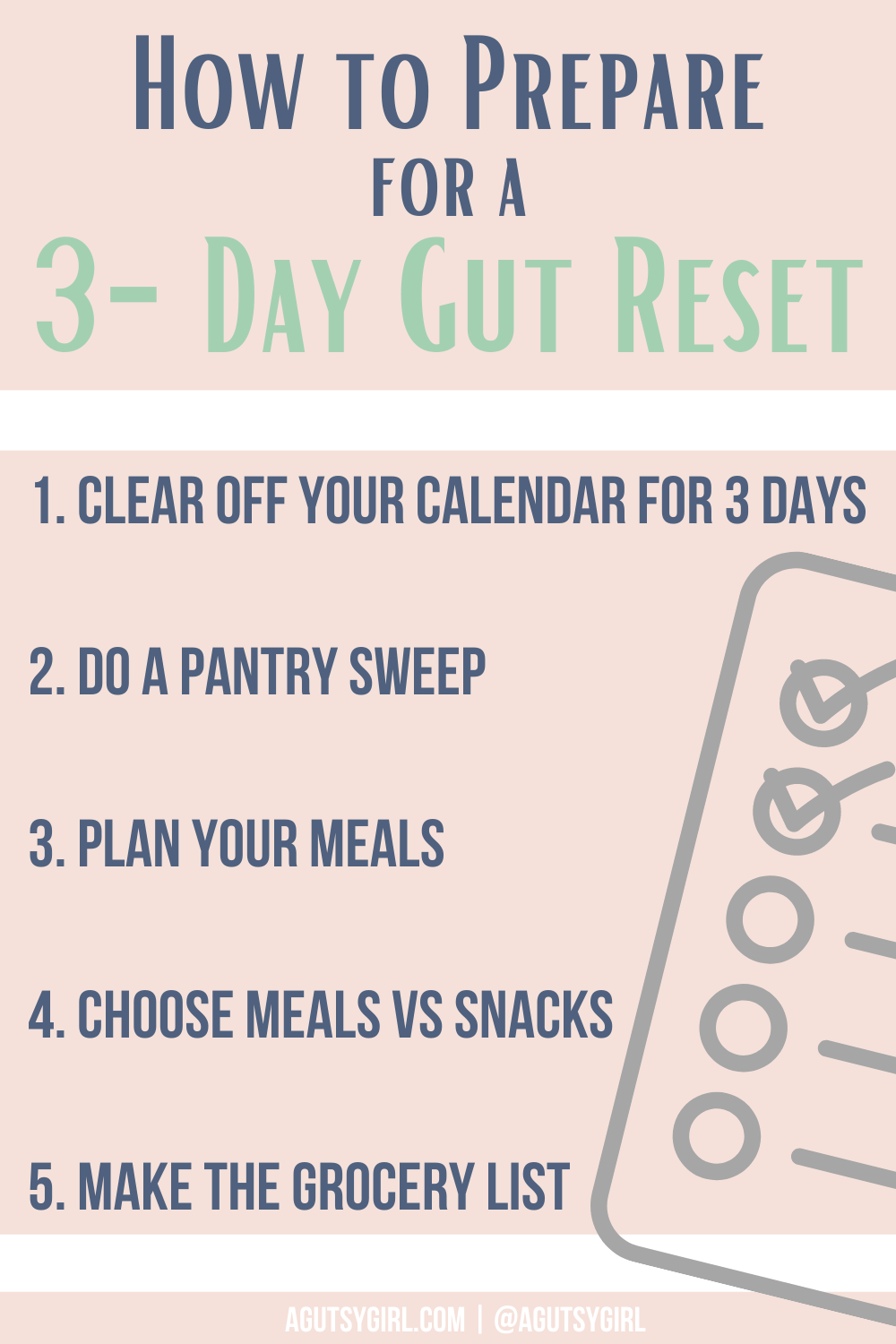 Why Does My Stomach Hurt agutsygirl.com #3daygutreset #gutreset #guthealth How to prepare for a 3-day gut reset