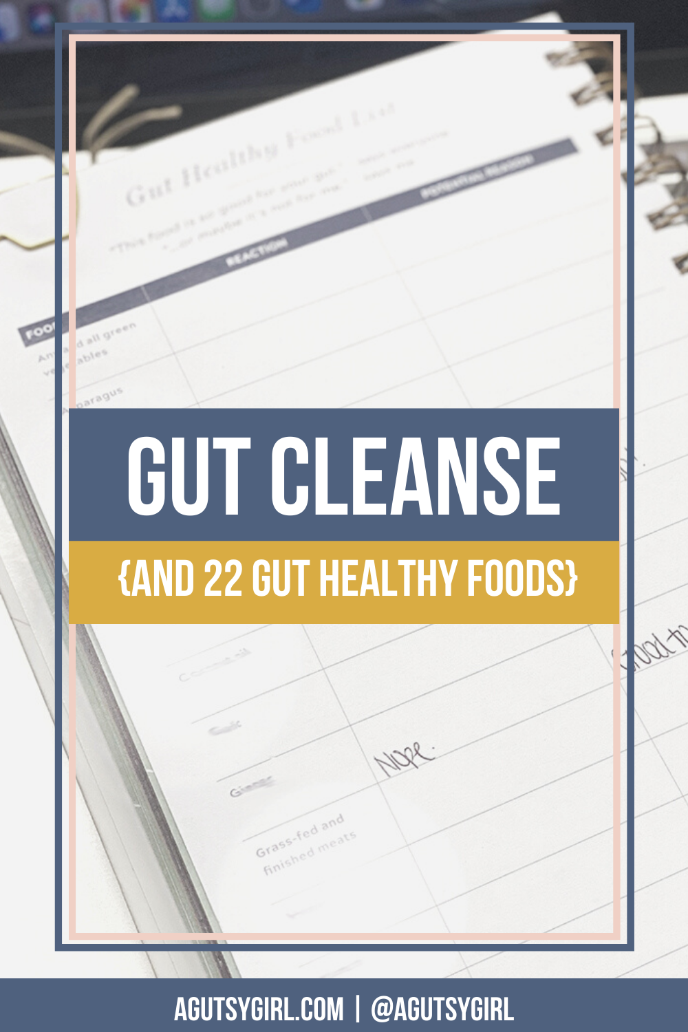 Gut Cleanse and 22 gut healthy foods agutsygirl.com #guthealth #gutcleanse #cleanse