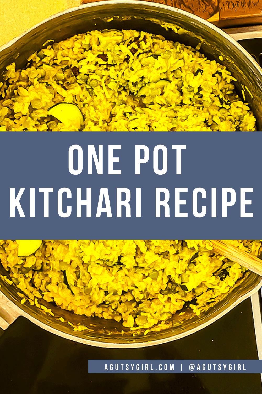 One Pot Kitchari Recipe agutsygirl.com #kitchari #kitcharicleanse #onepotmeals #glutenfreerecipes