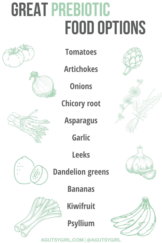 Prebiotic Foods agutsygirl.com #prebiotics #prebiotic #guthealth