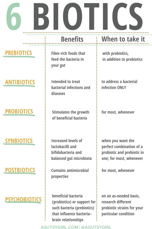 Psychobiotics + 5 other biotics to know agutsygirl.com #probiotics #psychobiotics #prebiotics