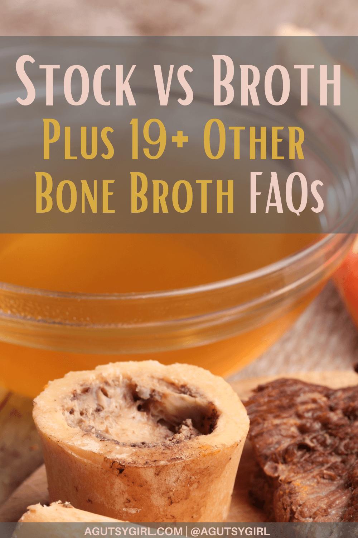 Stock vs Broth agutsygirl.com #stock #broth #bonebroth #guthealing