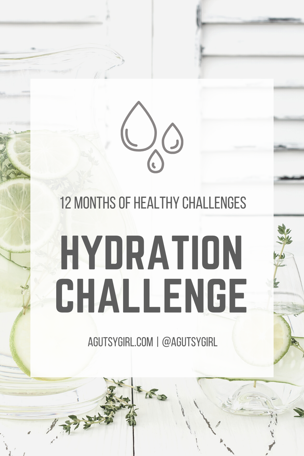Hydration Definition and hydration challenge agutsygirl.com #hydration #water #healthychallenge