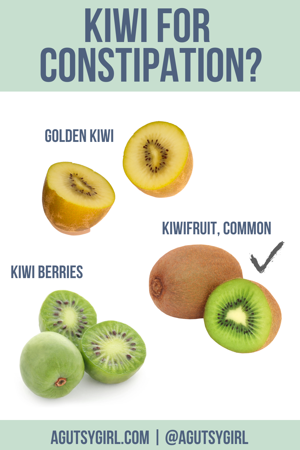 Kiwi for Constipation agutsygirl.com #kiwifruit #constipation #guthealth